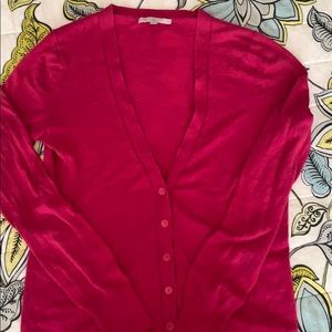 GAP Berry Pink Button Down Cardigan